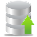 128x128px size png icon of Database Upload