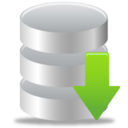 128x128px size png icon of Download database