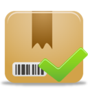 128x128px size png icon of Package Accept