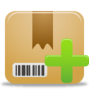 128x128px size png icon of Package Add