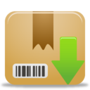 128x128px size png icon of Package Download