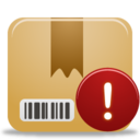 128x128px size png icon of Package Warning