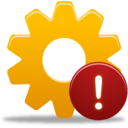 128x128px size png icon of Process Warning
