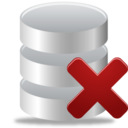 128x128px size png icon of Remove from database