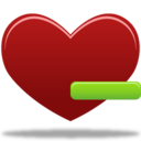 128x128px size png icon of Remove from favorites