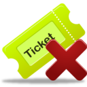 Remove ticket 1 Icon