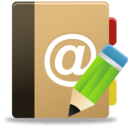 128x128px size png icon of Addressbook edit