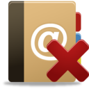 128x128px size png icon of Addressbook remove