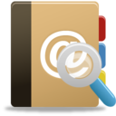 128x128px size png icon of Addressbook search