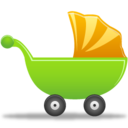 128x128px size png icon of Baby cot