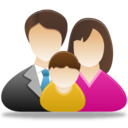 128x128px size png icon of Family