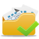 128x128px size png icon of Open Folder Accept