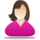 128x128px size png icon of Woman