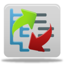 128x128px size png icon of Content reorder