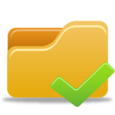 128x128px size png icon of Folder Accept