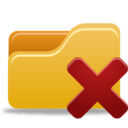 128x128px size png icon of Folder Delete
