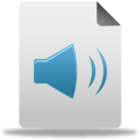 128x128px size png icon of Audio file