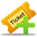 128x128px size png icon of Create ticket
