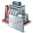 128x128px size png icon of industry mail