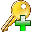 128x128px size png icon of Add key