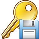 128x128px size png icon of Save key
