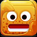 128x128px size png icon of orange block