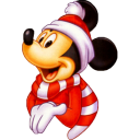128x128px size png icon of Mickey Christmas
