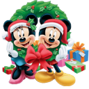 128x128px size png icon of Mickey Mouse Christmas