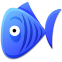 128x128px size png icon of Blue Fish