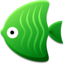 128x128px size png icon of Green Fish