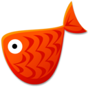 128x128px size png icon of Red Fish
