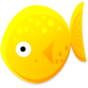 128x128px size png icon of Yellow Fish