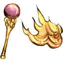 128x128px size png icon of Fire Staff