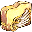 128x128px size png icon of Folder angelwing