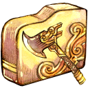 128x128px size png icon of Folder axe
