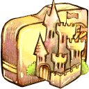 128x128px size png icon of Folder castle