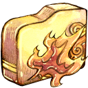 128x128px size png icon of Folder ele fire