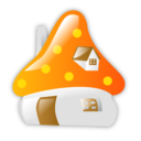 128x128px size png icon of Smurf house