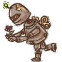 128x128px size png icon of Steampunk Robot