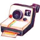 128x128px size png icon of Camera Polariod