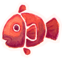 128x128px size png icon of Fishy