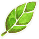 128x128px size png icon of Leafie