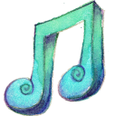 128x128px size png icon of Music 2