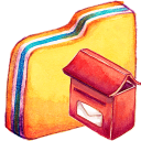 128x128px size png icon of Y MailBox