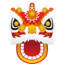 128x128px size png icon of dragon