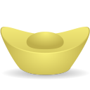 128x128px size png icon of gold ingot