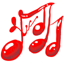 128x128px size png icon of Music red
