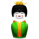 128x128px size png icon of Geisha China green