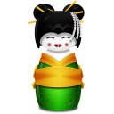 Geisha Korea green Icon