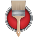128x128px size png icon of Paint Bucket Can Brush